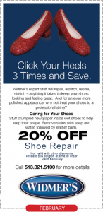 Shoes Repair Coupon