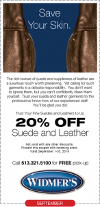 20% Off Suede and Leather