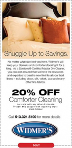 Comfoter Cleaning Coupon