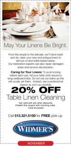 Table Linen Cleaning Coupons