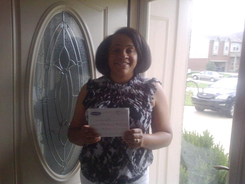 Kim Griffin Wins A Widmer's $50 Gift Certificate.  All She Had To Do Was Be On Our Mailing List To Be Eligible To Win!
