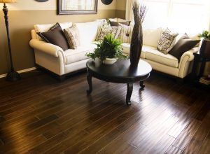 Hardwood flooring in modern living room